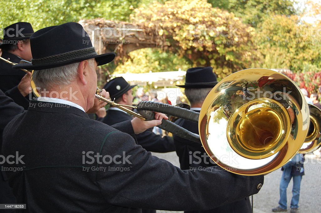 hunting horn royalty-free stock photo
