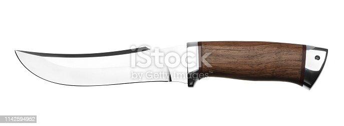 Hunting knife isolated on white background