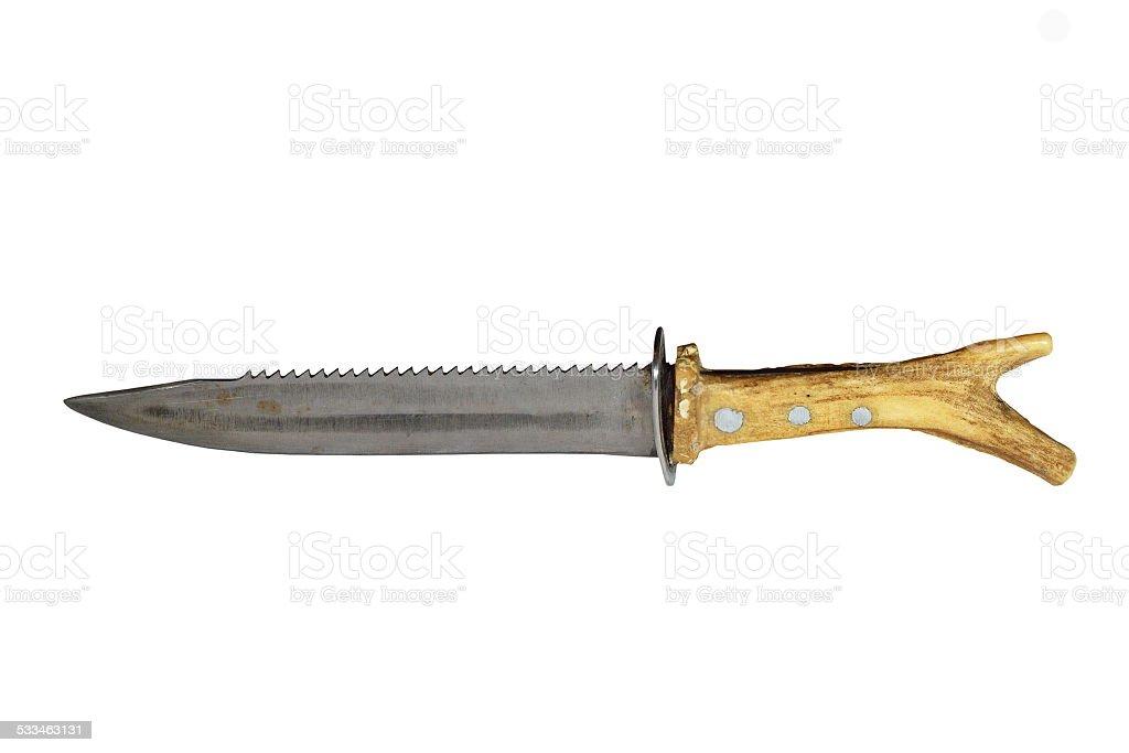hunting knife on white stock photo