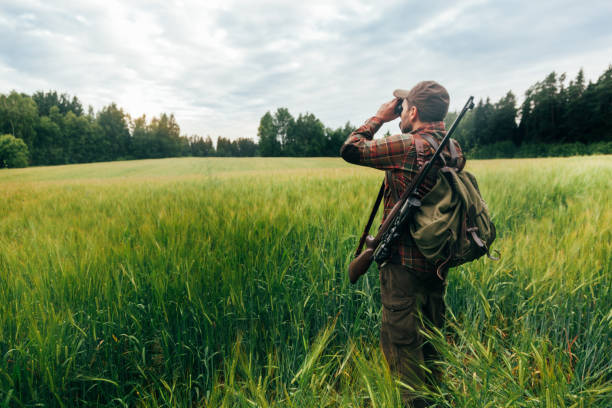 Hunting Real hunter, northern Europe hunter stock pictures, royalty-free photos & images