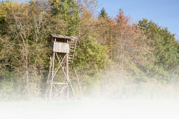Hunting Pulpit in the haze. stock photo