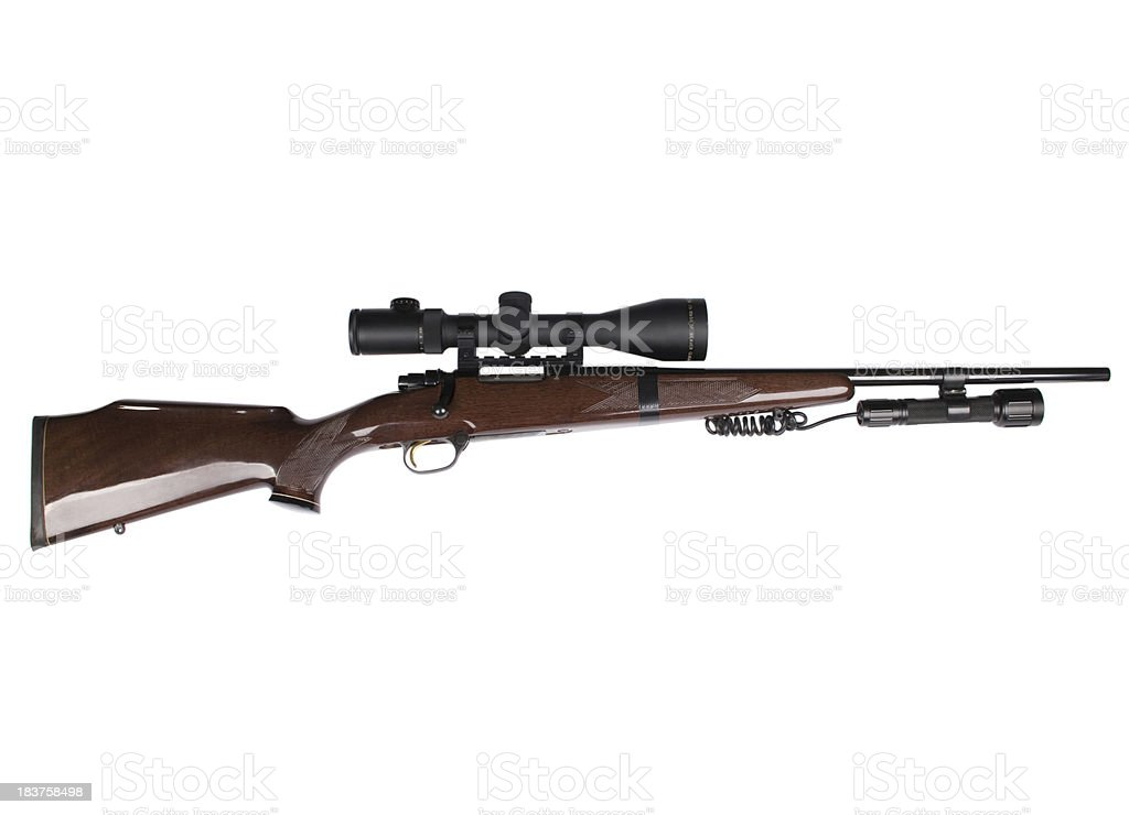 Hunting rifle royalty-free stock photo