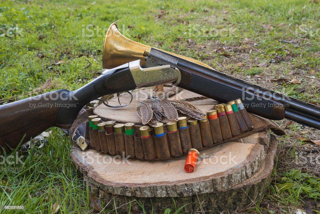 hunting still life royalty-free stock photo