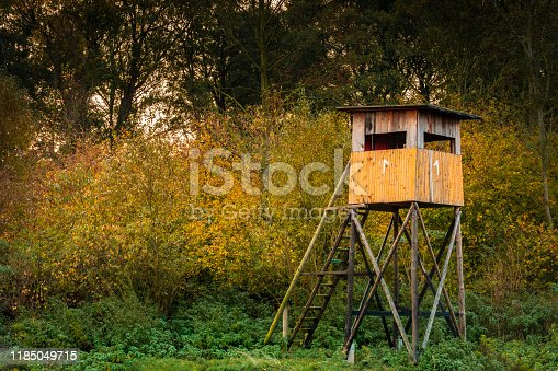 istock Hunting tower 1185049715