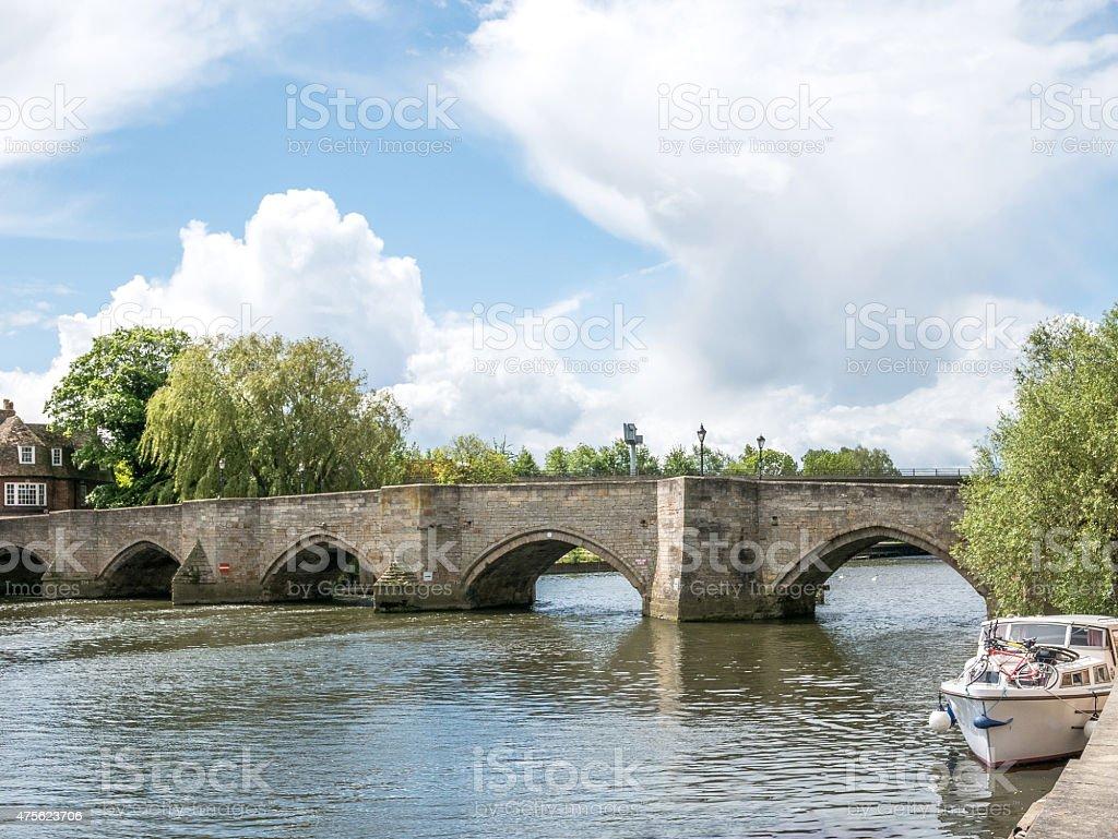 Huntingdon in Cambridgeshire, UK stock photo