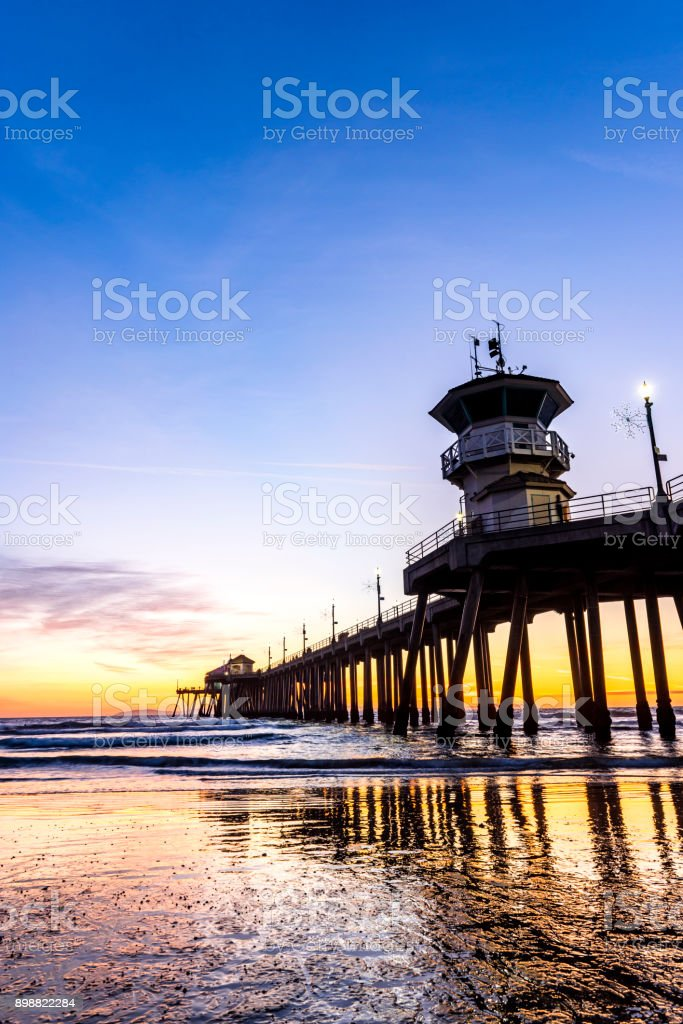 Huntington Beach Pier stock image. Image of themes, pier