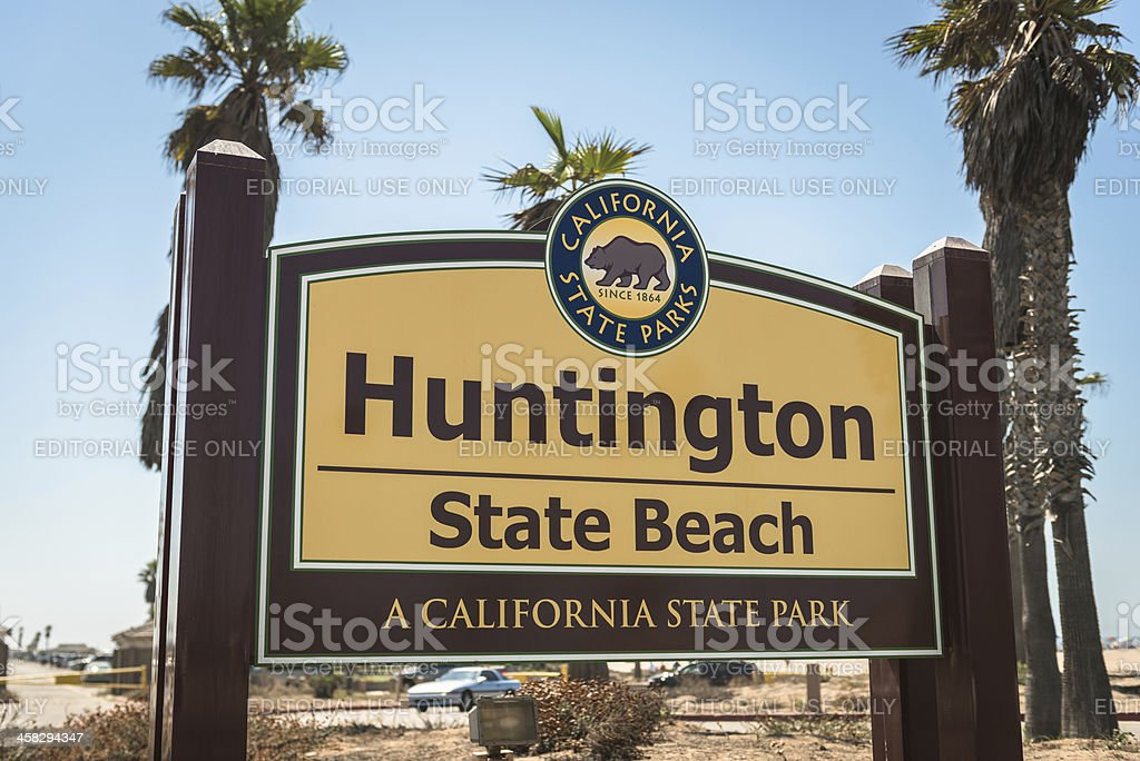 Huntington beach sign on California royalty-free stock photo