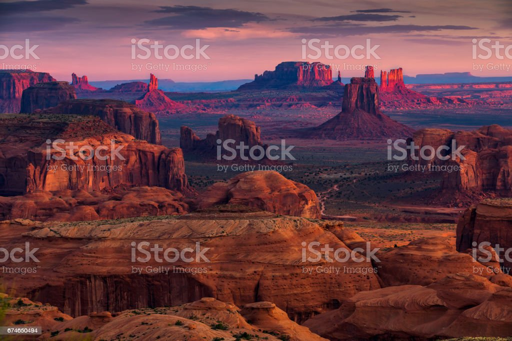 Lugar de Majestad tribal navajo de Mesa caza cerca de Monument Valley, Arizona, USA - foto de stock