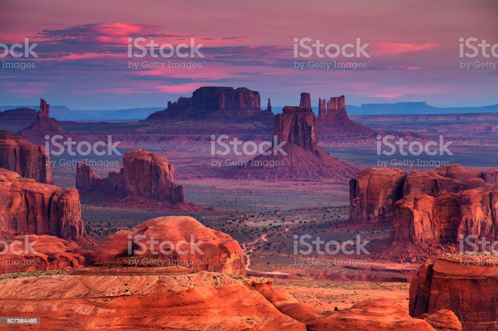 Hunts Mesa navajo tribal majesty place near Monument Valley, Arizona, USA royalty-free stock photo