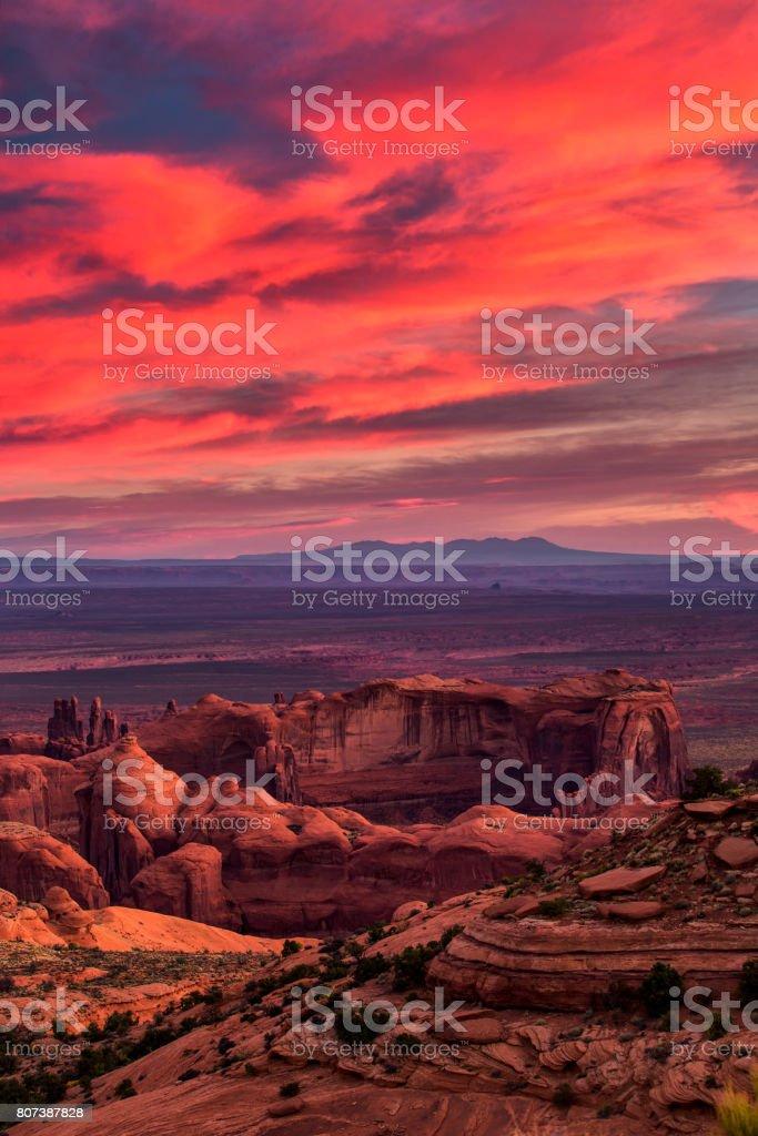 Hunts Mesa navajo tribal majesty place near Monument Valley, Arizona, USA stock photo