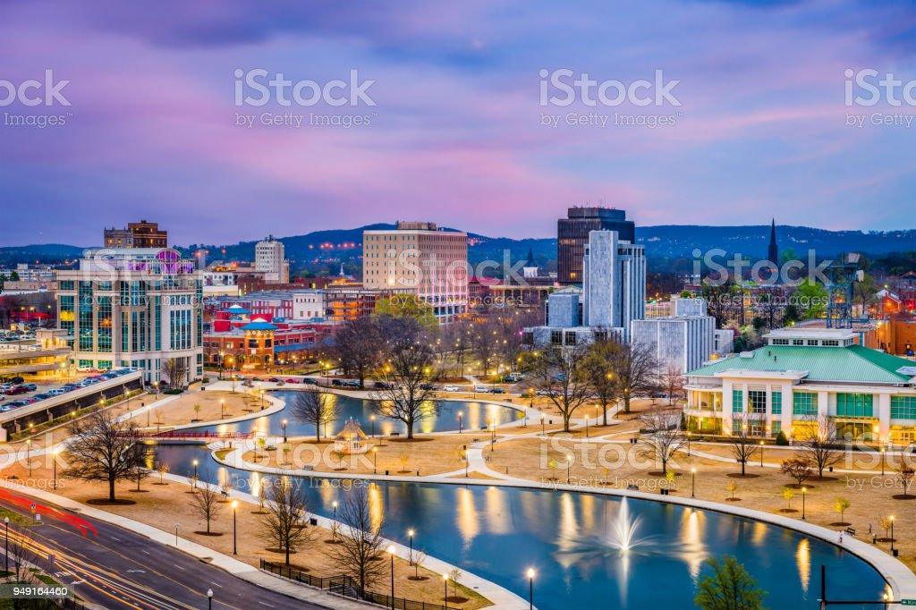 Huntsville, Alabama, USA Skyline royalty-free stock photo