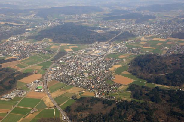Hunzenschwil Kanton Aargau-Schweiz-Luftbild-Fotografie – Foto