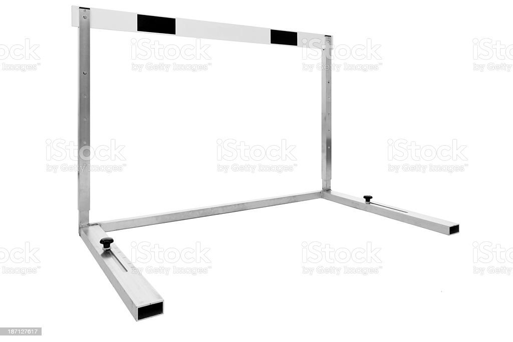 hurdle perspective royalty-free stock photo