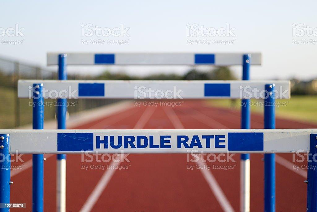 Hurdle Rate royalty-free stock photo
