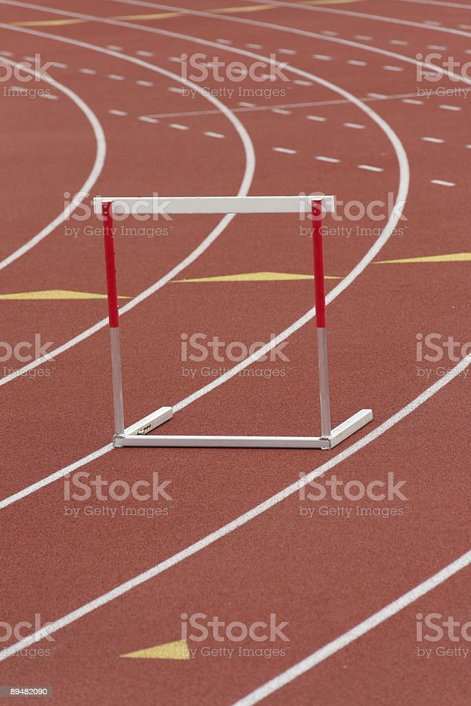 Hurdle track lane royalty-free stock photo