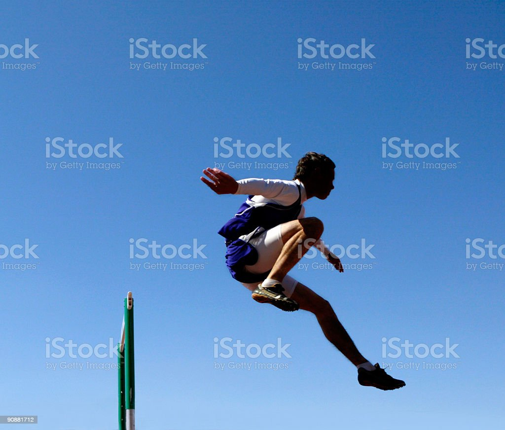 Hurdler 2 stock photo