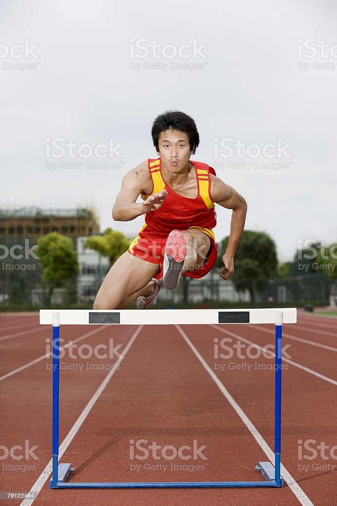 Hurdler royalty-free stock photo