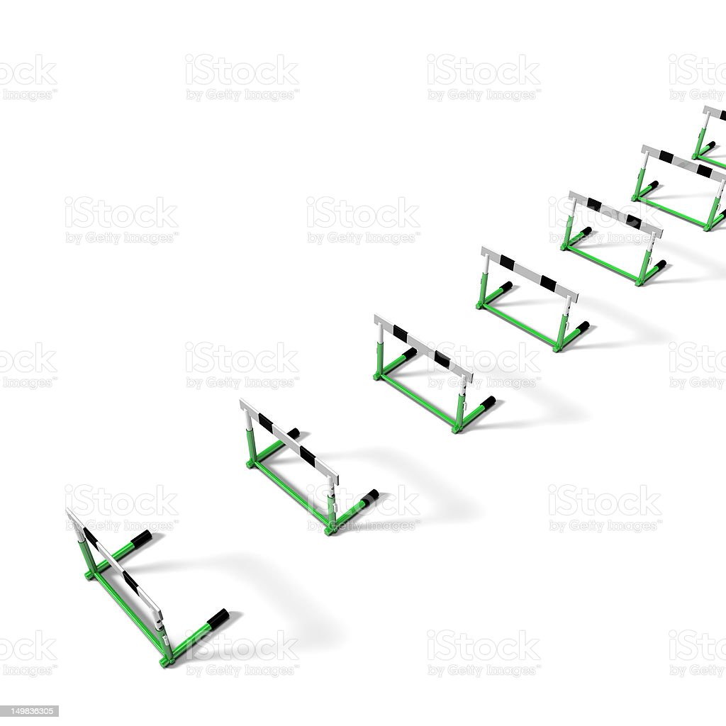 Hurdles On White Back Ground royalty-free stock photo