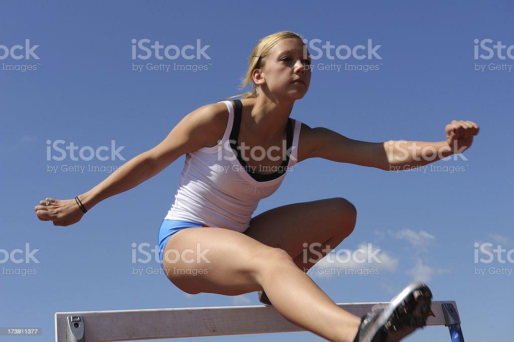 Hurdles practicing royalty-free stock photo