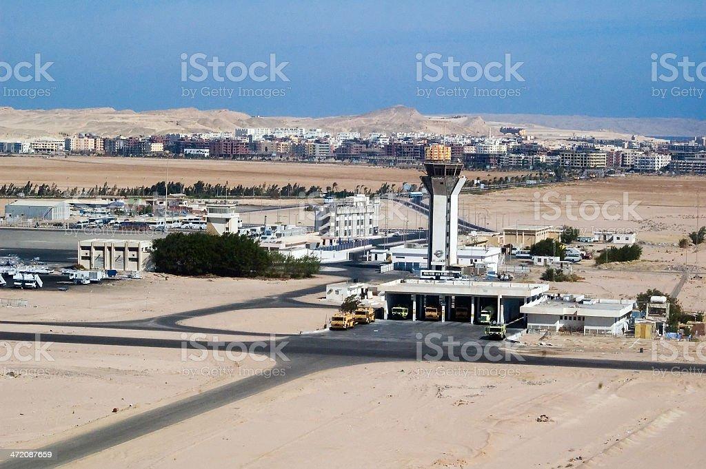 Hurghada airport stock photo