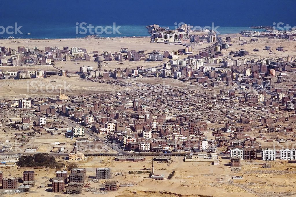 Hurghada Town stock photo