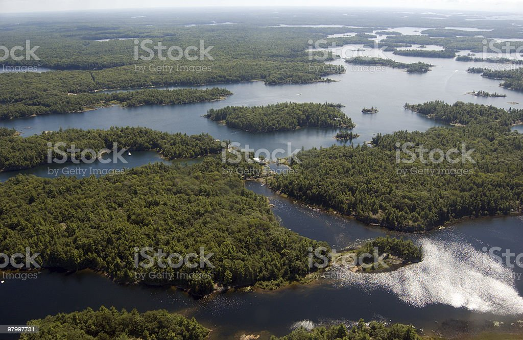 Huron lake royalty-free stock photo