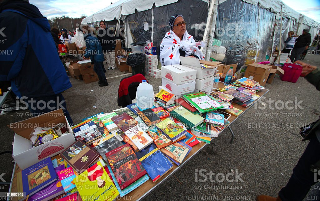 Hurrican Sandy relief, Staten Island stock photo