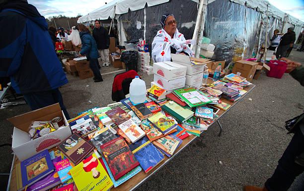 Hurrican Sandy relief, Staten Island stock photo