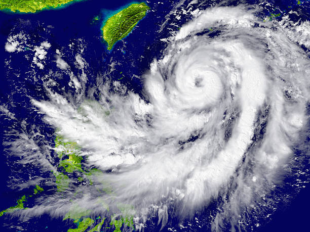 Huracán abordar el Sudeste de Asia - foto de stock