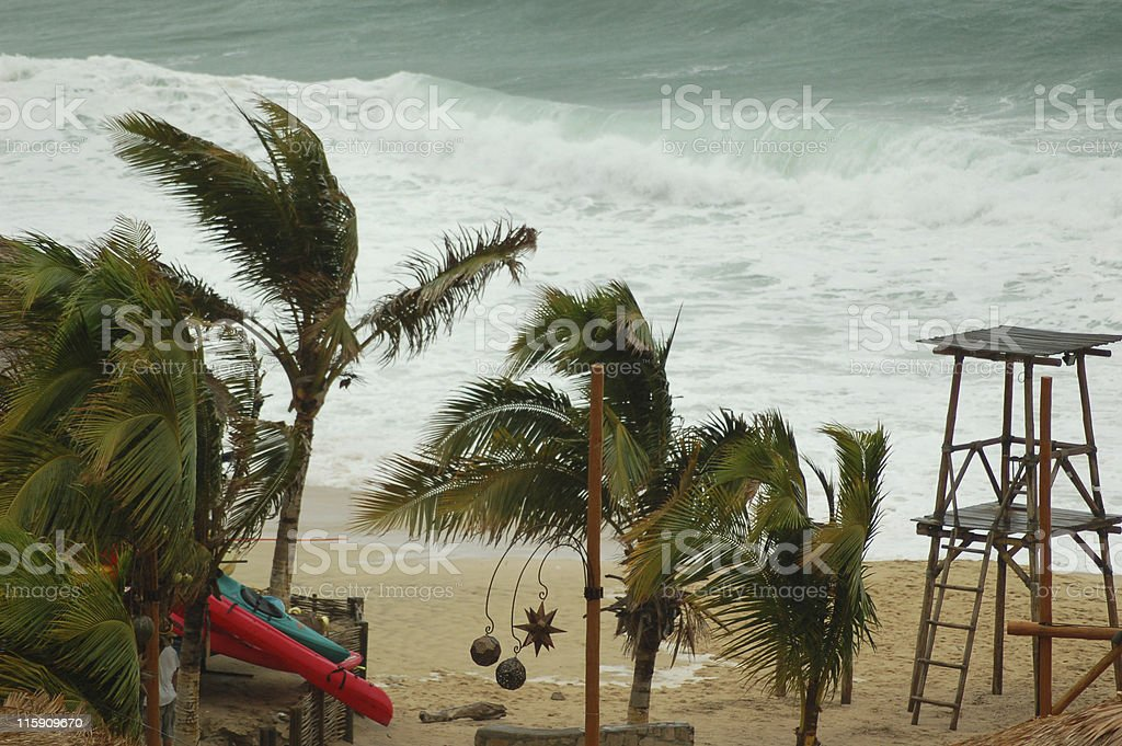 Hurricane beach royalty-free stock photo
