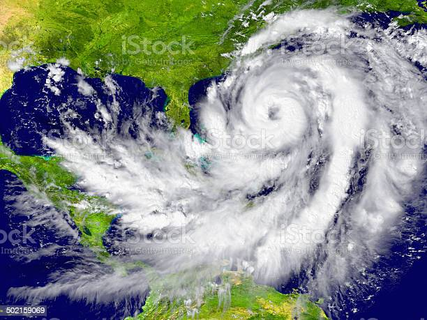 Photo of Hurricane between Florida and Cuba