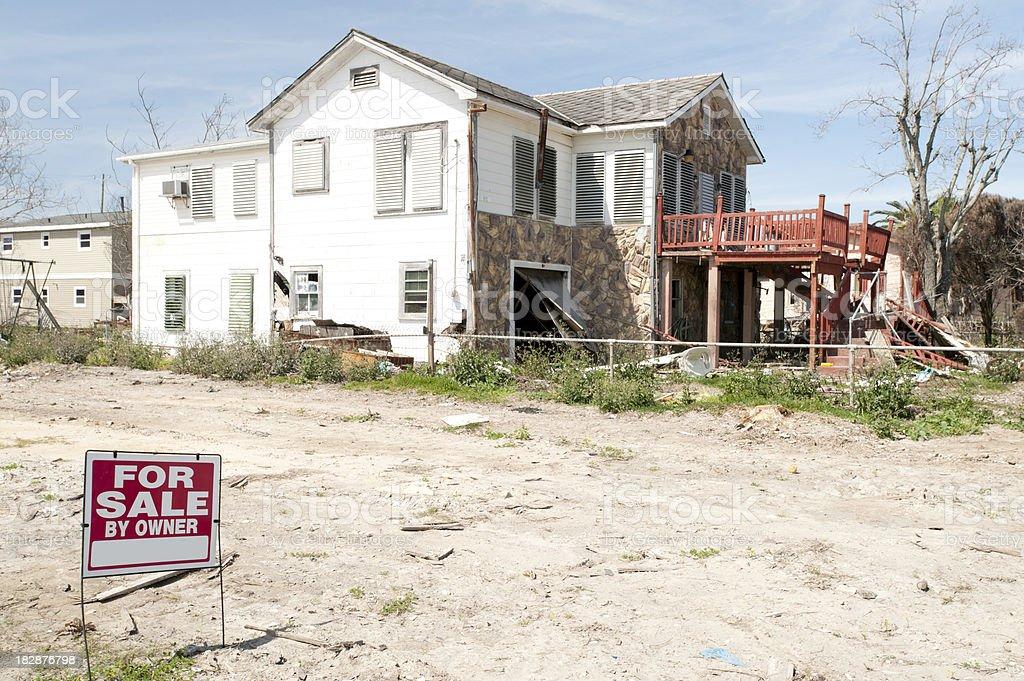Hurricane damage at a shore area royalty-free stock photo