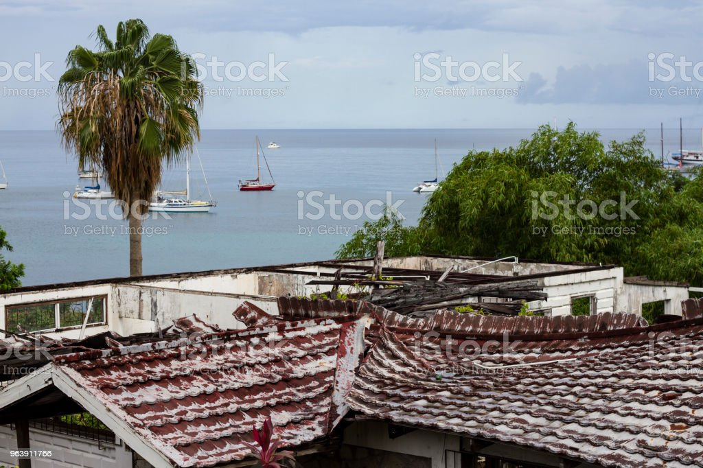 Hurricane Damage in the Caribbean - Royalty-free Accidents and Disasters Stock Photo