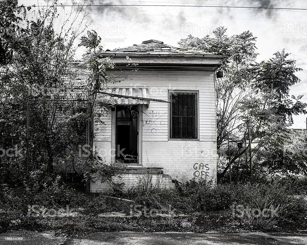 Hurricane Damaged home royalty-free stock photo