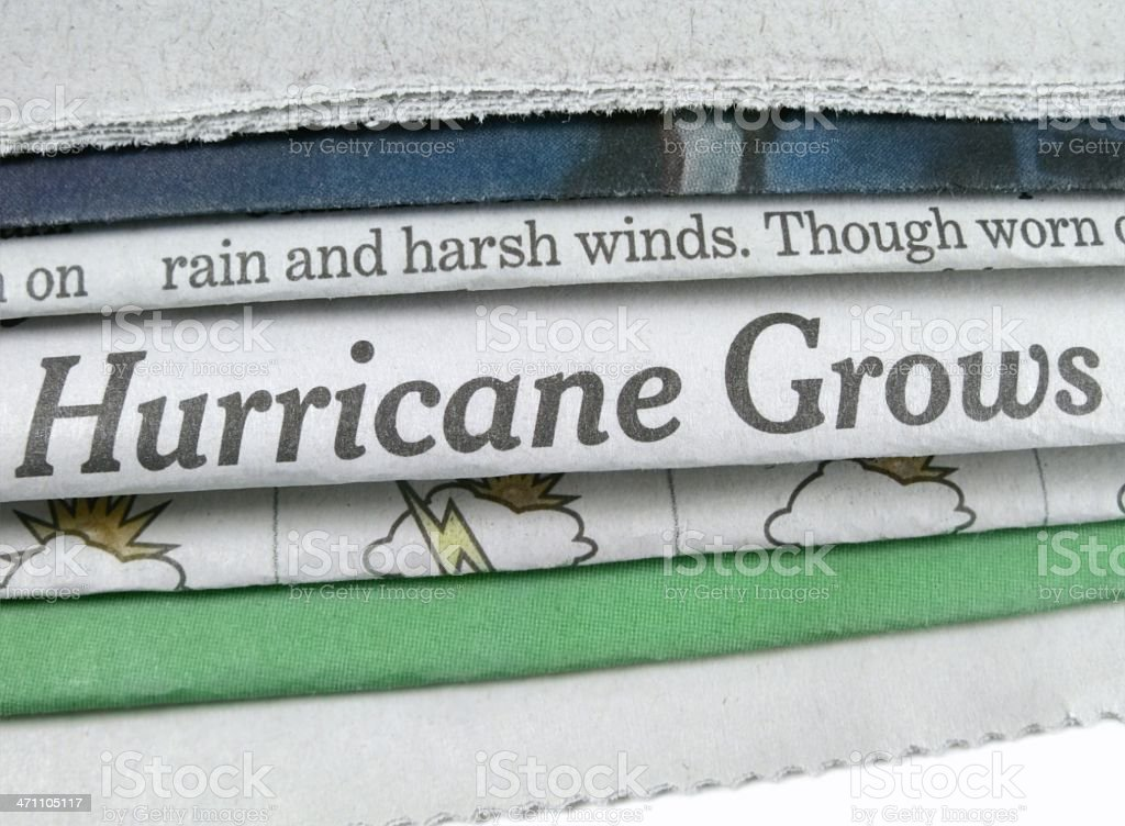 Hurricane Grows stock photo