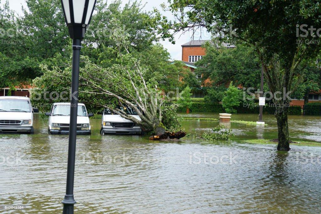 Hurricane Harvey Impacts - Aftermath stock photo