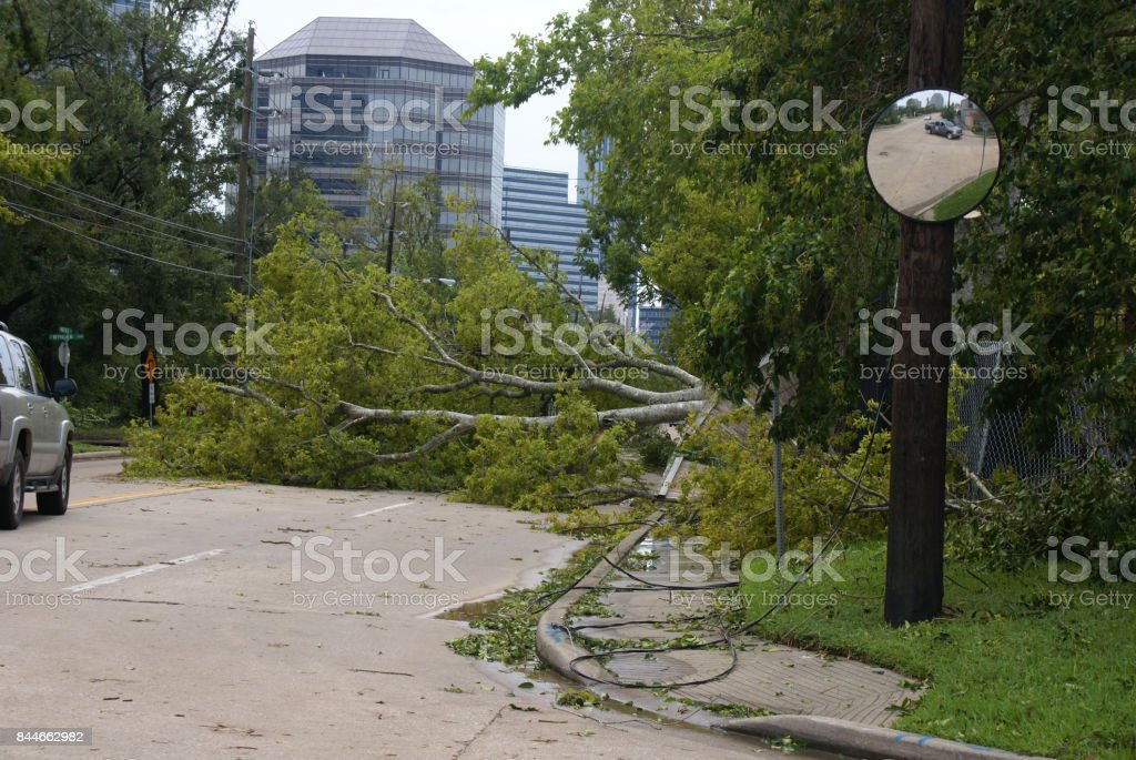 Hurricane Harvey Impacts - aftermath stock photo