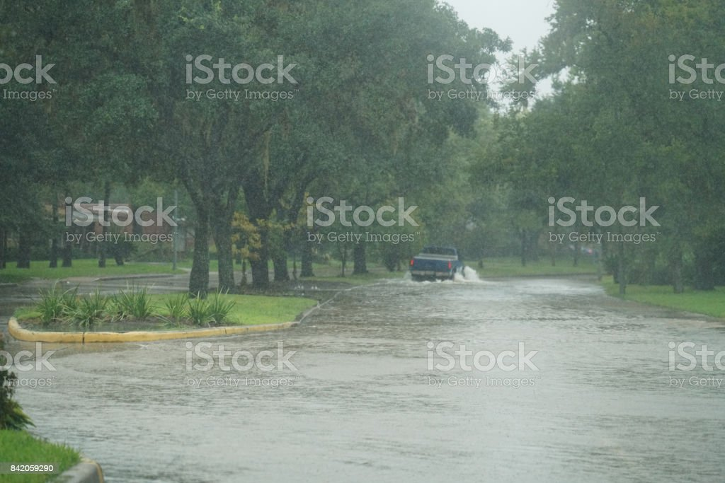 Hurricane Harvey Impacts stock photo