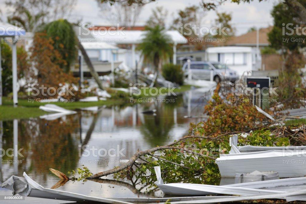 Hurricane Irma 2017 aftermath stock photo