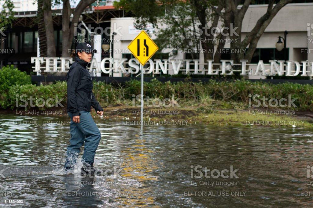 Hurricane Irma Strikes United States royalty-free stock photo