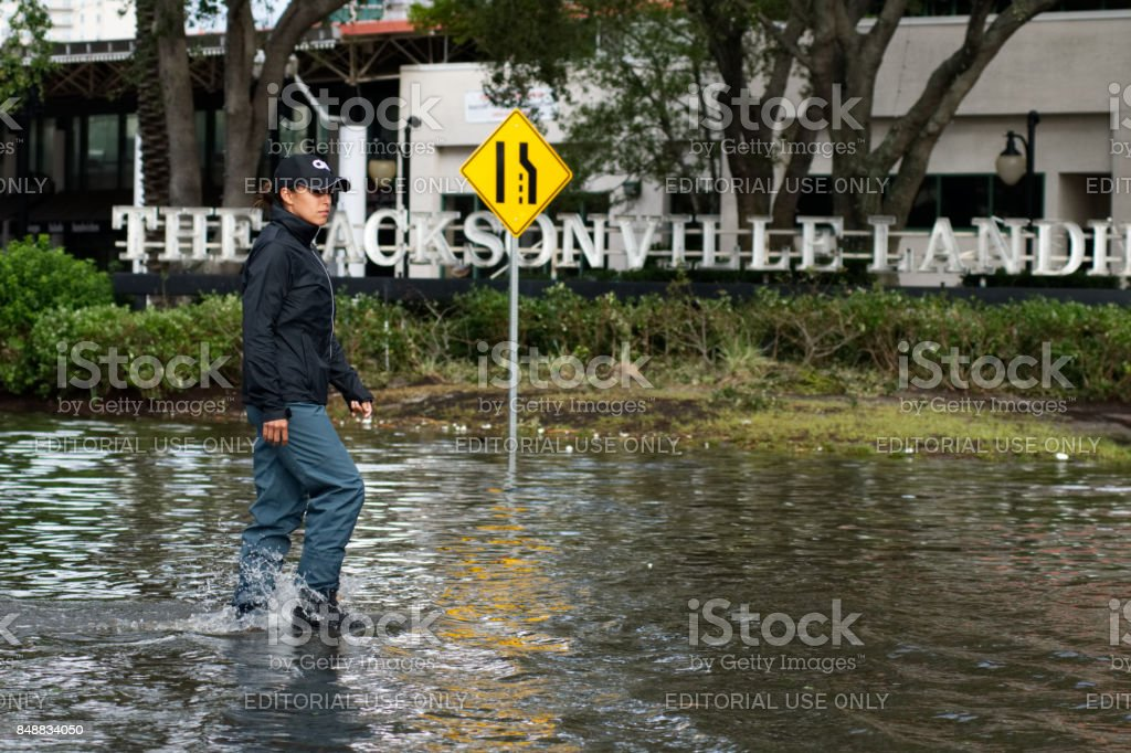 Hurricane Irma Strikes United States stock photo
