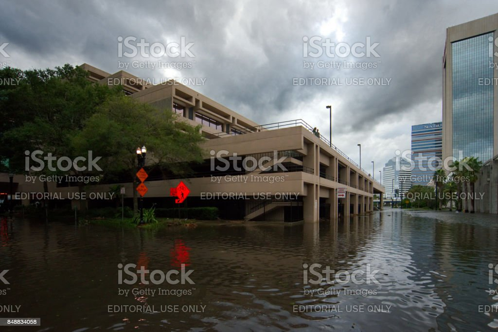 Hurricane Irma Strikes United States royalty-free stock photo