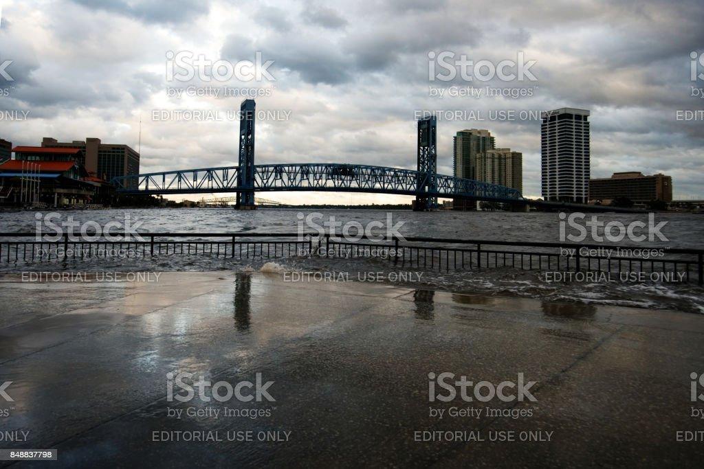 Hurricane Irma Strikes United States stock photo