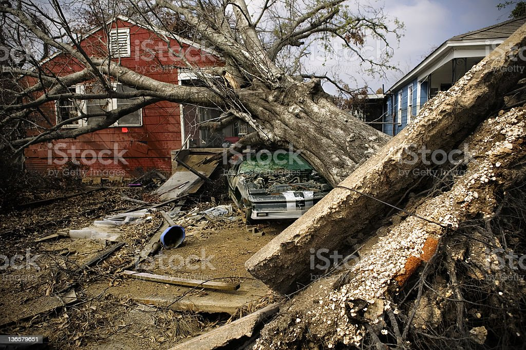 Hurricane Katrina 2 stock photo