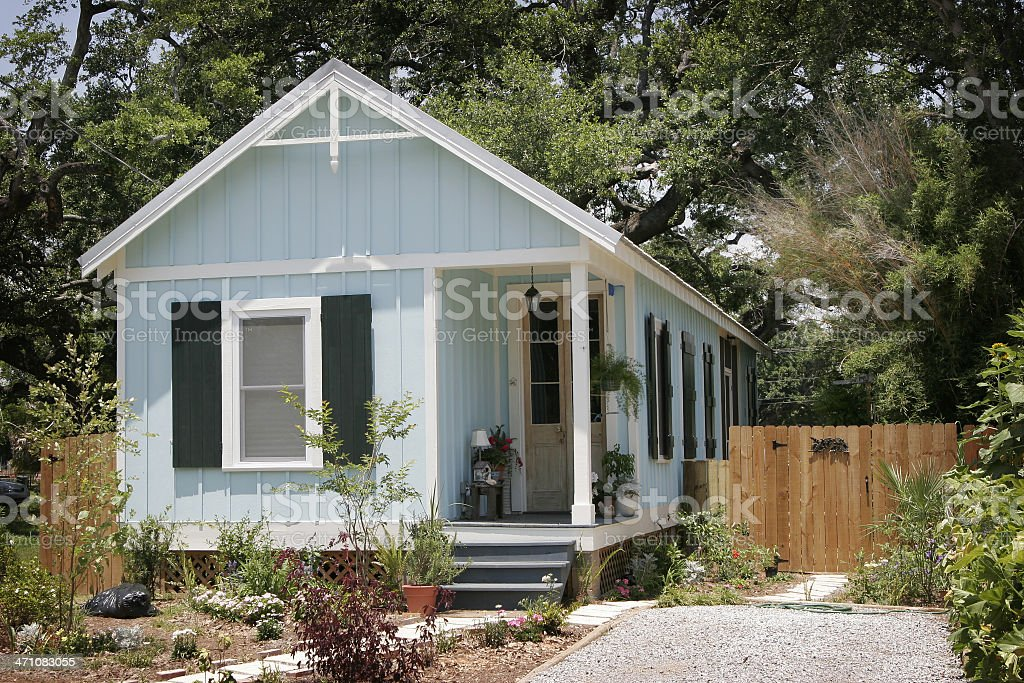 Hurricane Katrina Cottage stock photo