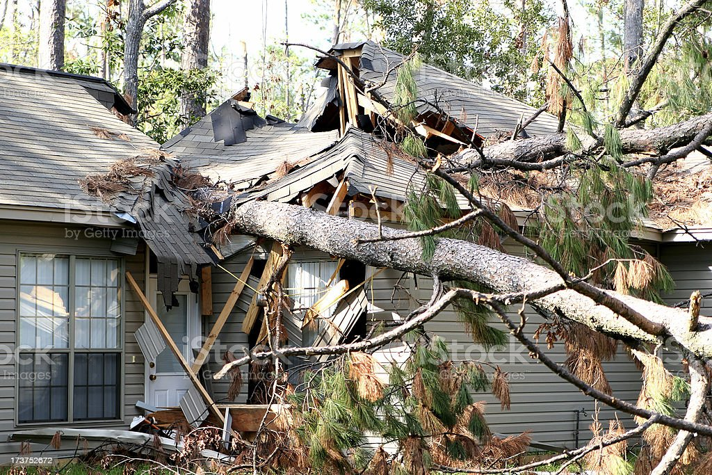 Hurricane Katrina Damage 02 stock photo