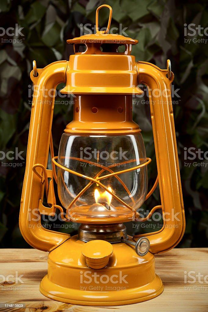 Hurricane lamp lantern stock photo