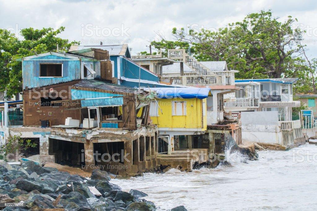 Hurricane Maria Damage stock photo