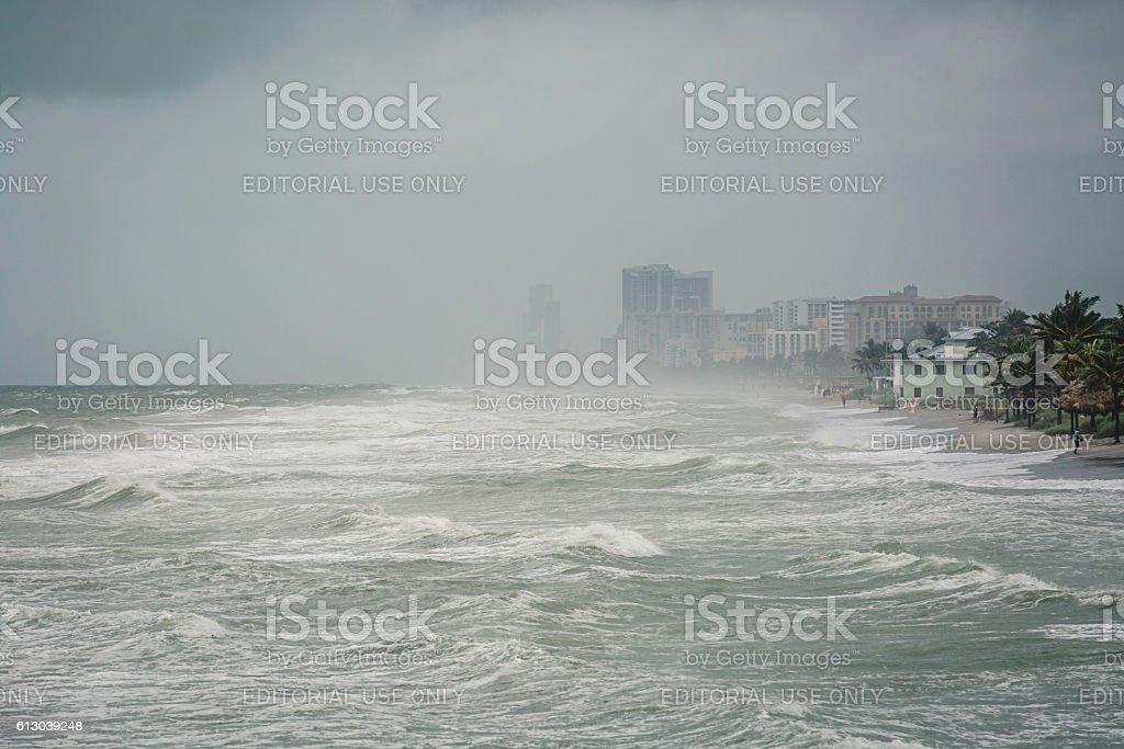 Hurricane Mathew stock photo