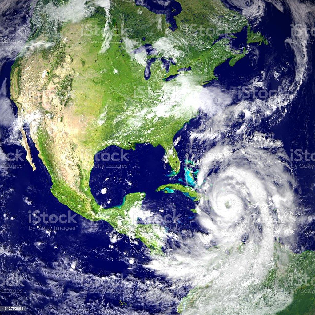 Hurricane Matthew stock photo